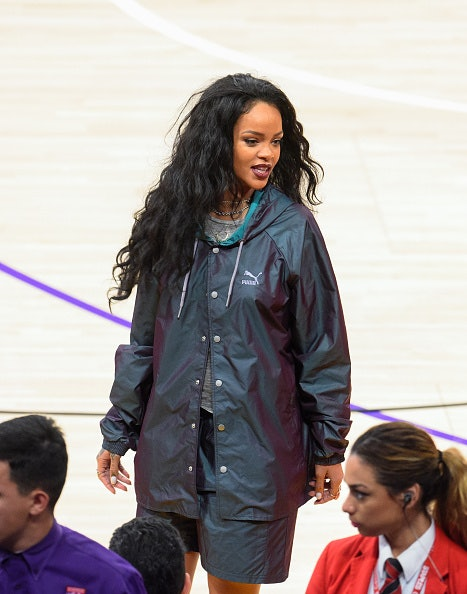 Rihanna at the Cavaliers game in Los Angeles