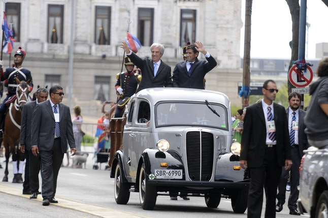 President Tabaré Vázquez during a parade in March.