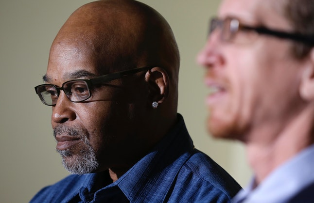 Alton Logan (left) spent 26 years in prison for a murder he did not commit, based on a confession coerced out of him by Jon Burge and his officers.