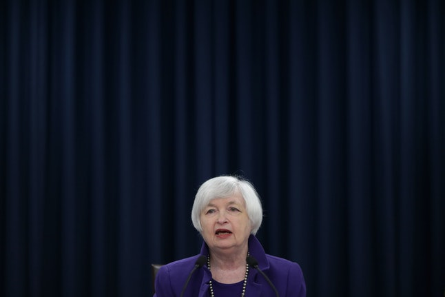 Federal Reserve chair Janet Yellen at a press conference announcing the increase.