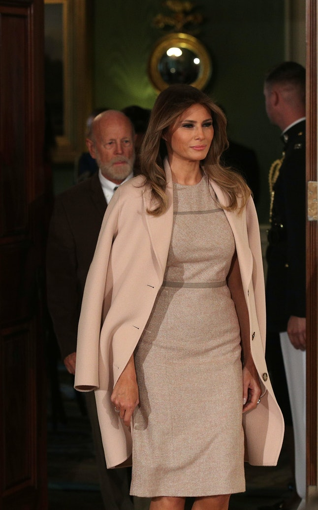 Melania Trump attends a nomination announcement at the White House.