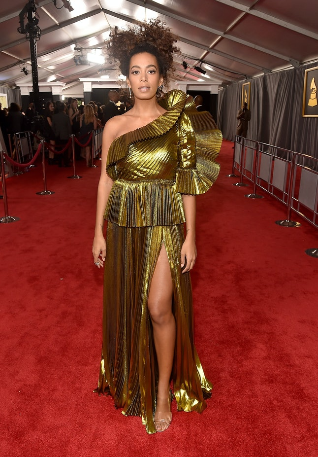 Solange Knowles attends The 59th GRAMMY Awards at STAPLES Center on February 12, 2017