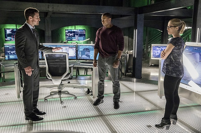 Oliver Queen, John Diggle and Felicity Smoak