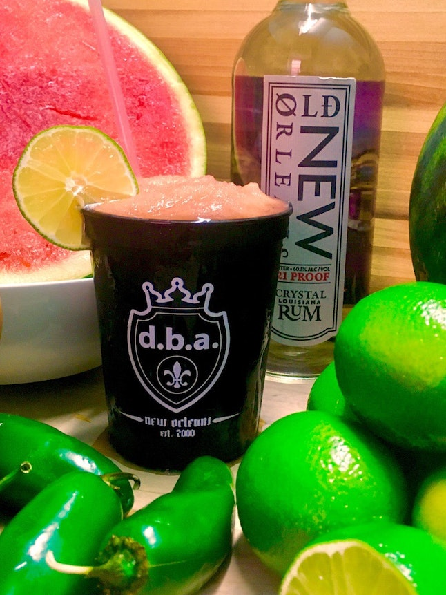 The Mad Mayan daiquiri has watermelon, jalapeño lime and rum.