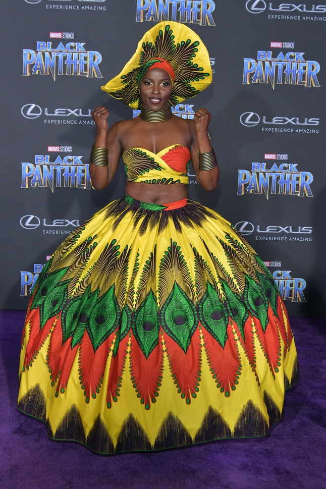 Janeshia Adams-Ginyard at the Los Angeles World Premiere of 'Black Panther'
