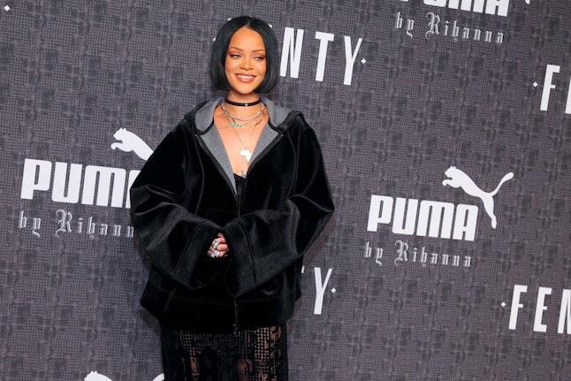Rihanna attending a Puma red carpet event