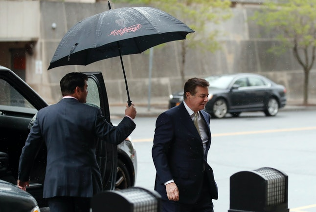 Paul Manafort arrives at Federal District Court for a hearing in April.