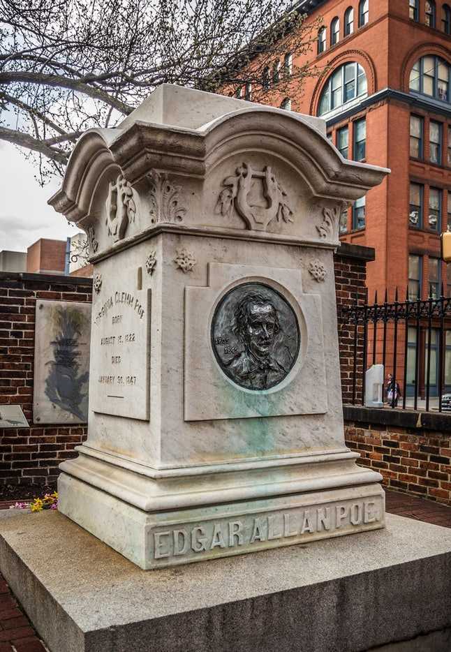 Bring some of Poe's greatest works and do some reading at his burial site.