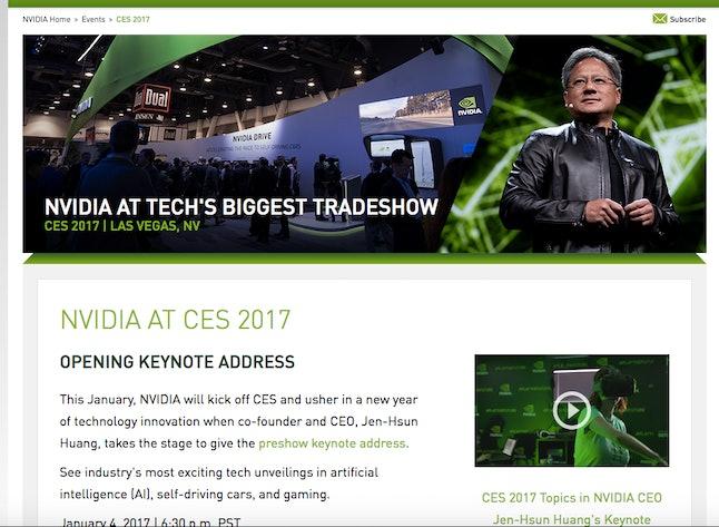 NVIDIA will kick off CES on Jan. 4.
