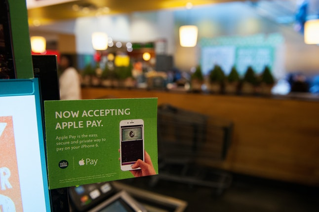 A Whole Foods store in New York offers Apple Pay.