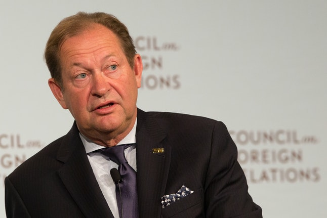 Inge Thulin, Chairman of the Board, President, and CEO of 3M Company, speaks at the Council on Foreign Relations on May 16 in New York.