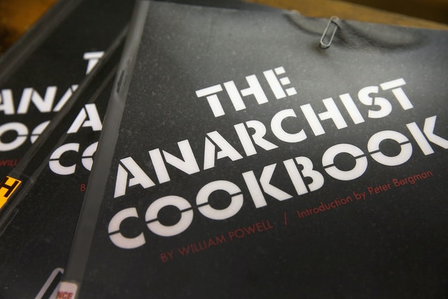 The Anarchist Cookbook is a controversial text, generally available for free online, that has sections that teach radicals how to construct improvised explosives.