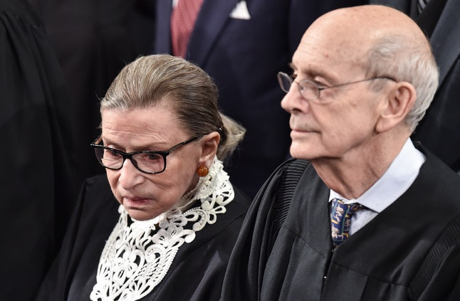 U.S. Supreme Court Justices Ruth Bader Ginsburg and Stephen Breyer