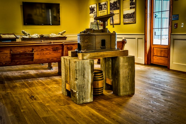 See how rum was made back in the day at the Bayou Rum Distillery museum.