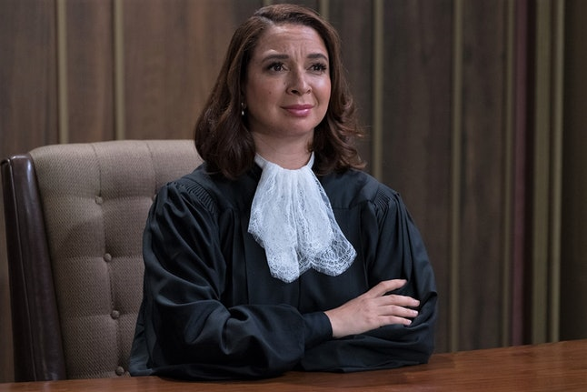 Maya Rudolph as the judge in a still from 'The Good Place'