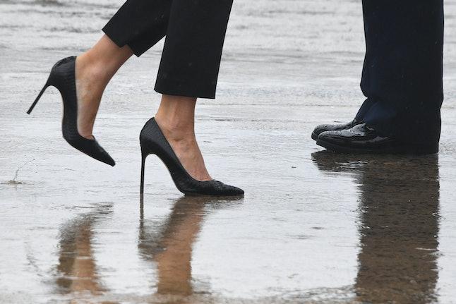Melania Trump's shoes on Tuesday
