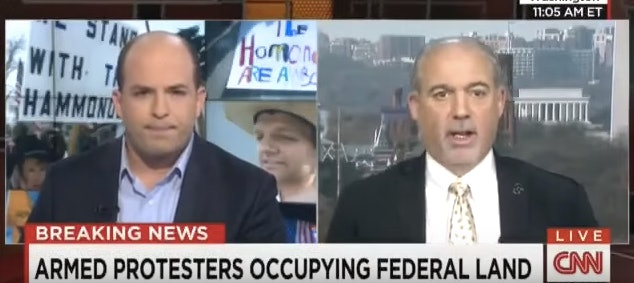 Brian Stelter interviewing Art Roderick on CNN