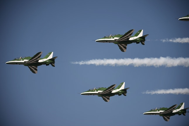 Saudi special air forces during a demonstration.