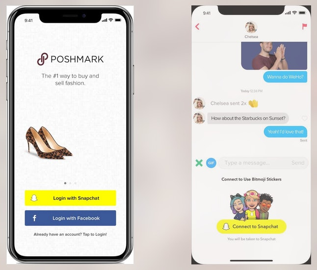 Snap Kit will allow users to log in with their Snapchat credentials in apps like Poshmark and Tinder.