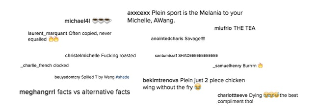 Comments on Alexander Wang's Instagram post