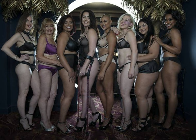 Sirokai (second from right) in the Curvy Kate campaign