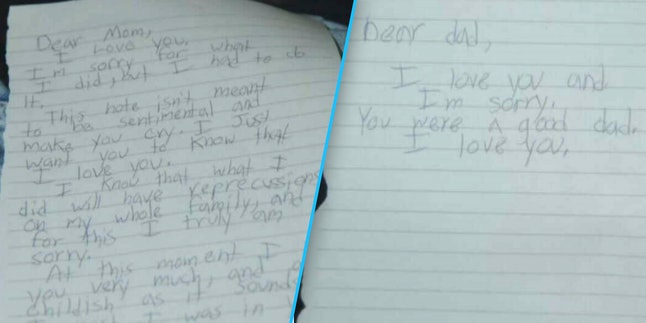 Roof's notes to his parents
