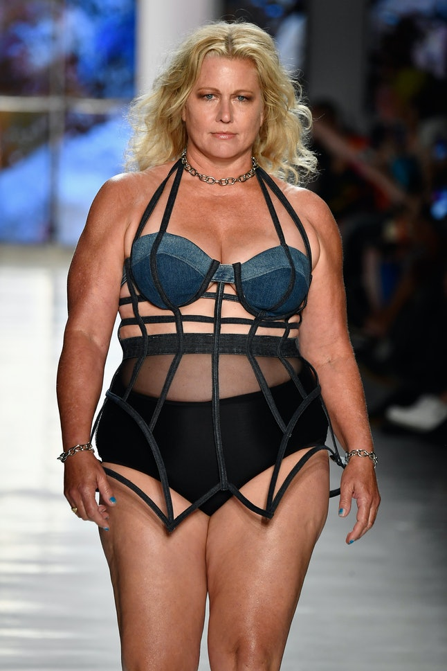 Emme walking for Chromat at NYFW
