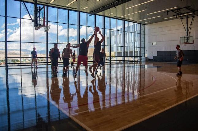 Adobe's NBA-sized indoor basketball court