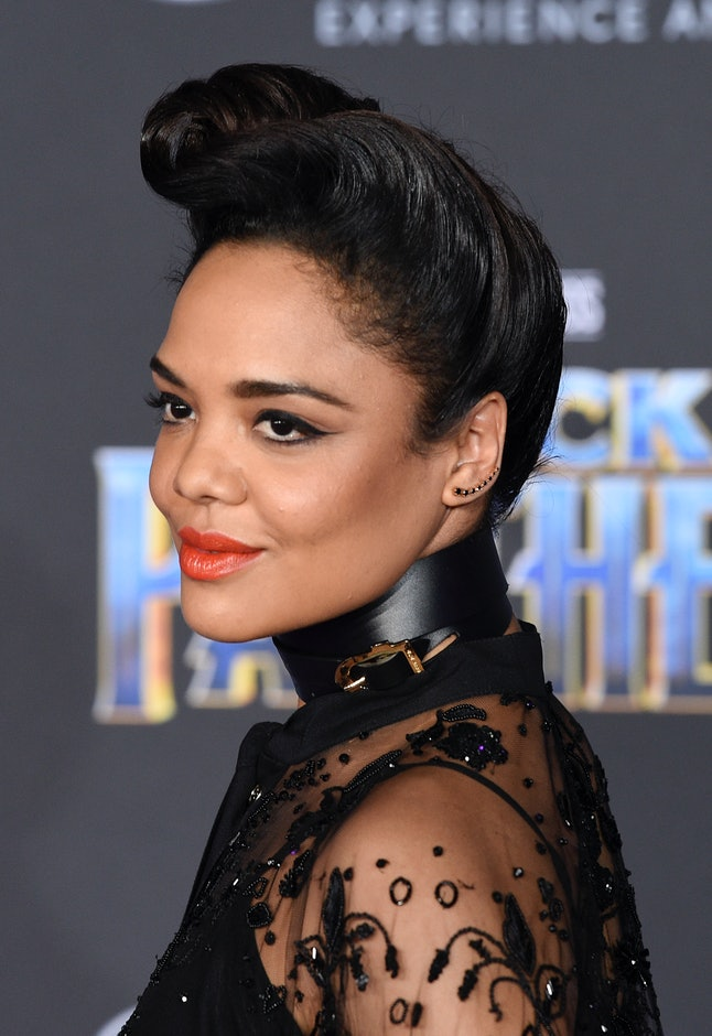 Tessa Thompson at the Los Angeles World Premiere of 'Black Panther'
