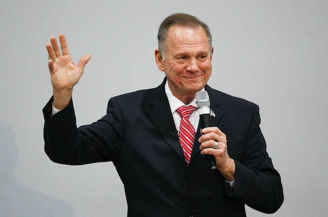 Roy Moore speaks at an event in Jackson, Alabama, on Tuesday.