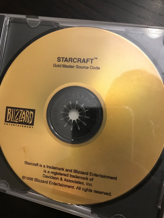 The gold disc in question, from 1998