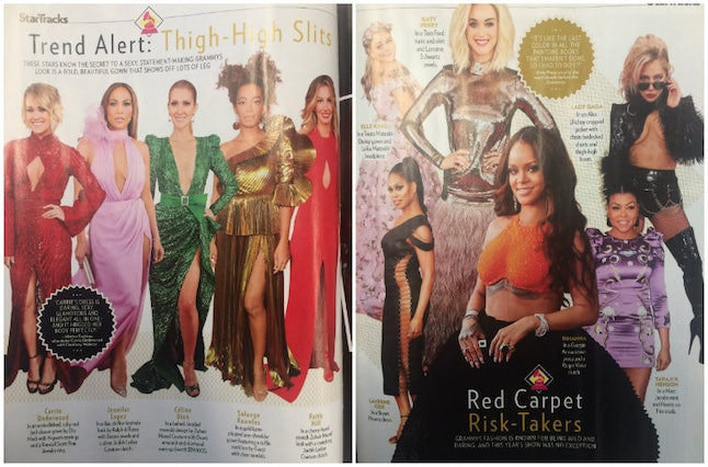 The Grammys fashion spread in the latest issue of 'People'