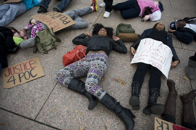 Members of the Black Youth Project stage a die-in in Chicago.