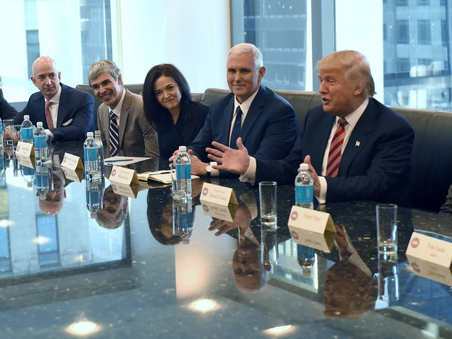 Trump held his first meetings with major tech leaders shortly after his inauguration.