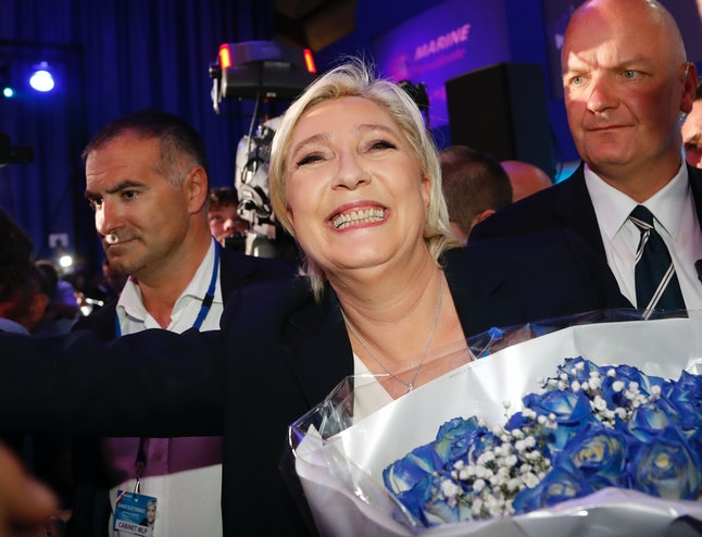 Far-right leader and French presidential candidate Marine Le Pen.