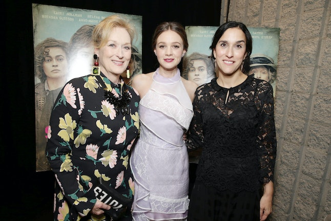 Meryl Streep, Carey Mulligan and Sarah Gavron at the 'Suffragate' premiere on Oct. 21 in Los Angeles.