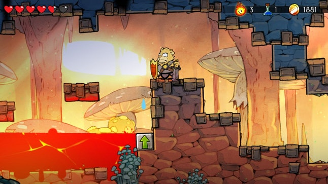 The new visuals in 'Wonder Boy: The Dragon's Trap.'