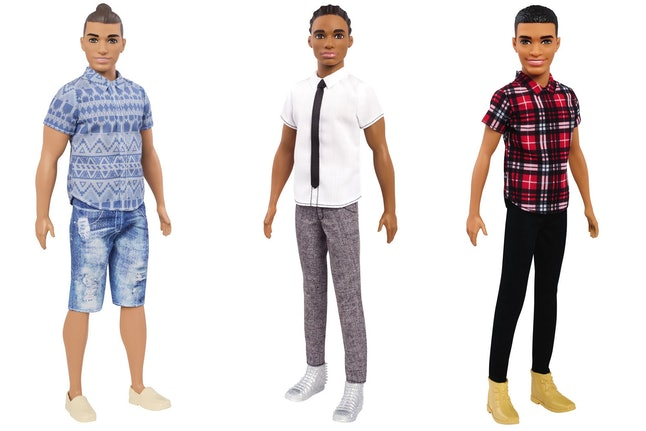 A selection of a few of the new Ken dolls