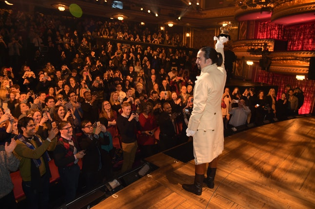 'Hamilton' writer and star Lin-Manuel Miranda at the Grammy Awards.