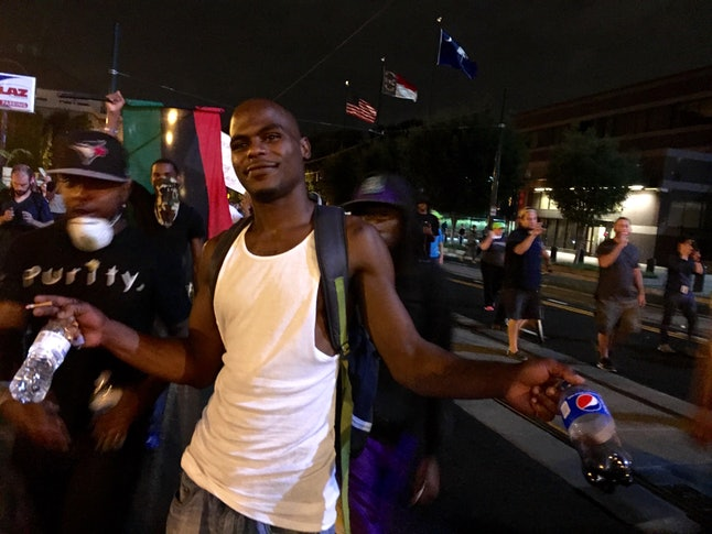Cortney Pinkney, who joined protesters in Charlotte on Thursday, September 23