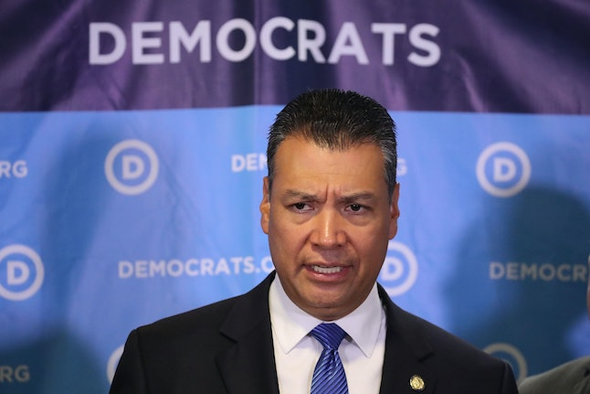 California Secretary of State Alex Padilla objects to the election integrity panel's request for voter data.