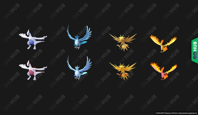 "According to ""leaked models,"" here's what the shiny versions of every legendary Pokémon should look like."