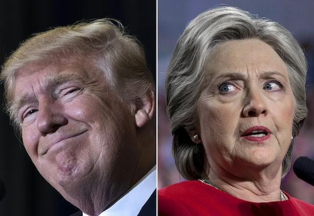 Donald Trump in Tampa, Florida and Democratic presidential nominee Hillary Clinton in Allendale, Michigan