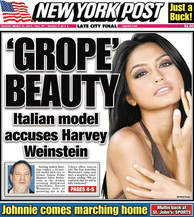 New York Post's March 31, 2015 front page