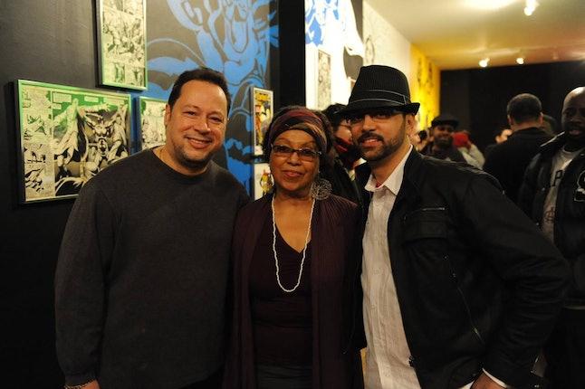 Joe Quesada (Chief Creative Officer, Marvel, Right), Dr. Marta Moreno Vega (President, Caribbean Cultural Center African Diaspora Institute, center) Edgardo Miranda-Rodriguez (left)