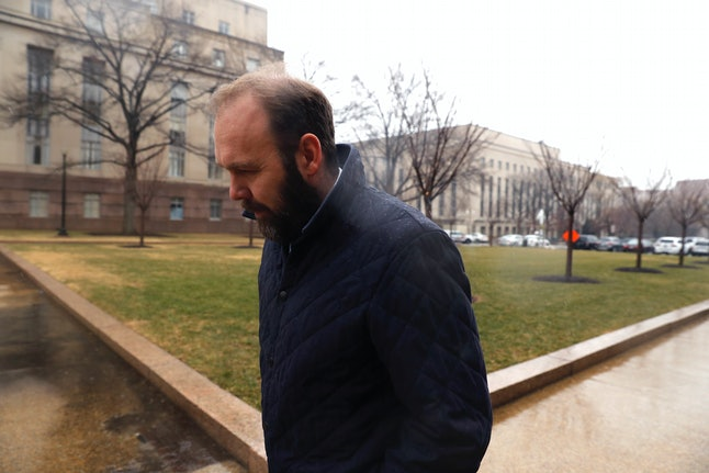 Rick Gates attends a hearing on at the E. Barrett Prettyman United States Courthouse on Feb. 7.