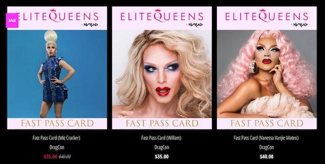 Fast pass prices for Miz Cracker, Willam and Vanessa Vanjie Mateo