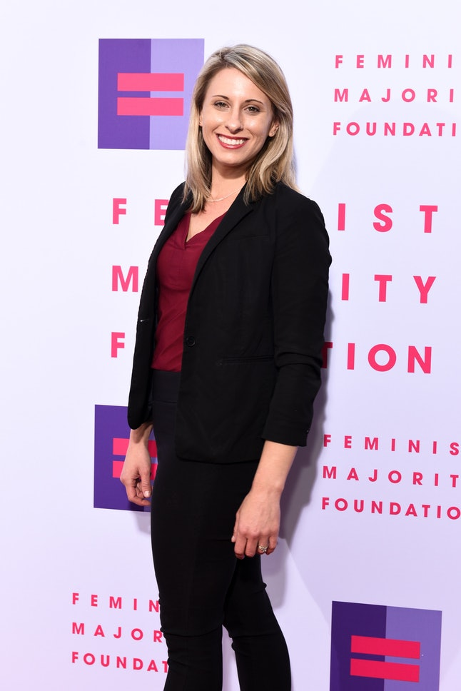 Katie Hill attends the Global Women's Rights Awards in Beverly Hills, California.