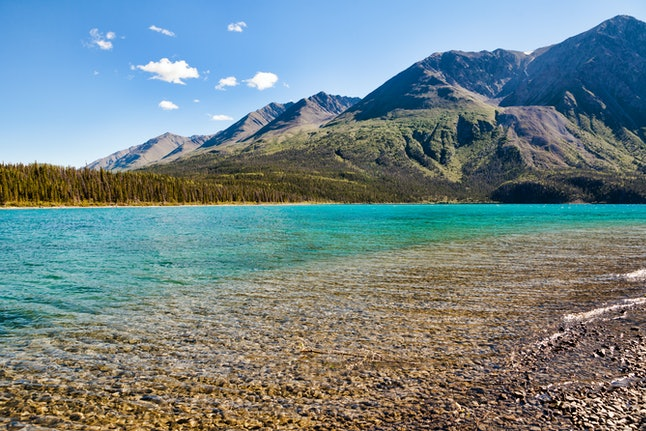 Kathleen Lake, Yukon in summer