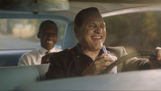 A scene from the movie 'Green Book' starring Viggo Mortensen and Mahershala Ali.